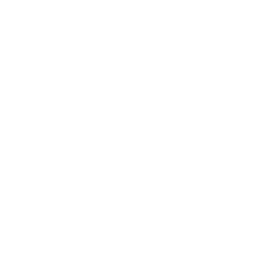 White circular icon of a house
